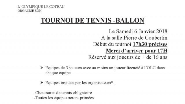 Tennis ballon 2018