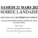 SOIREE LANDAISE 2020 article