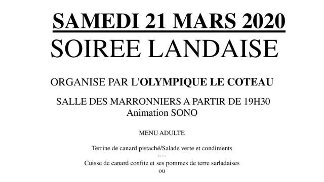 SOIREE LANDAISE 2020 article